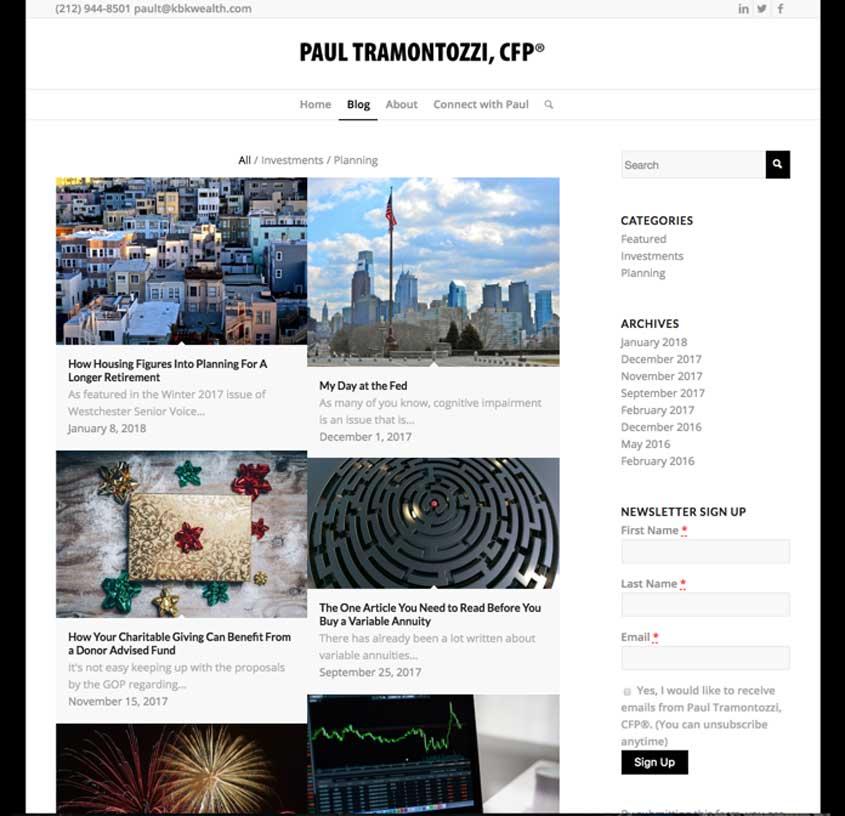 Blog by Paul Tramontozzi