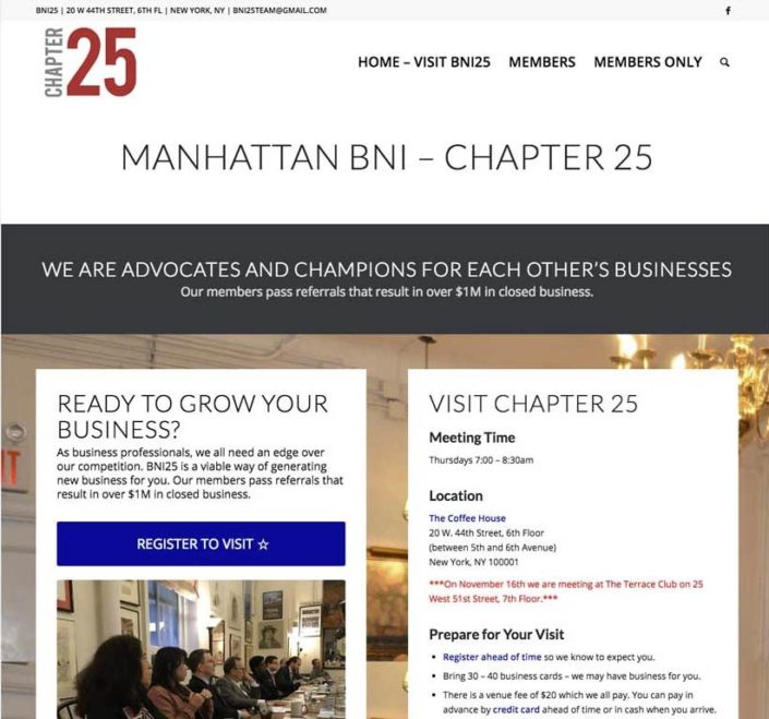 Manhattan BNI Chapter 25